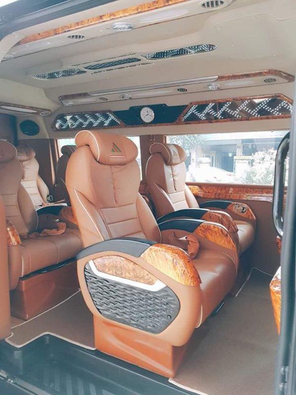 Nội thất xe Huy Hoàng Limousine Vũng Tàu