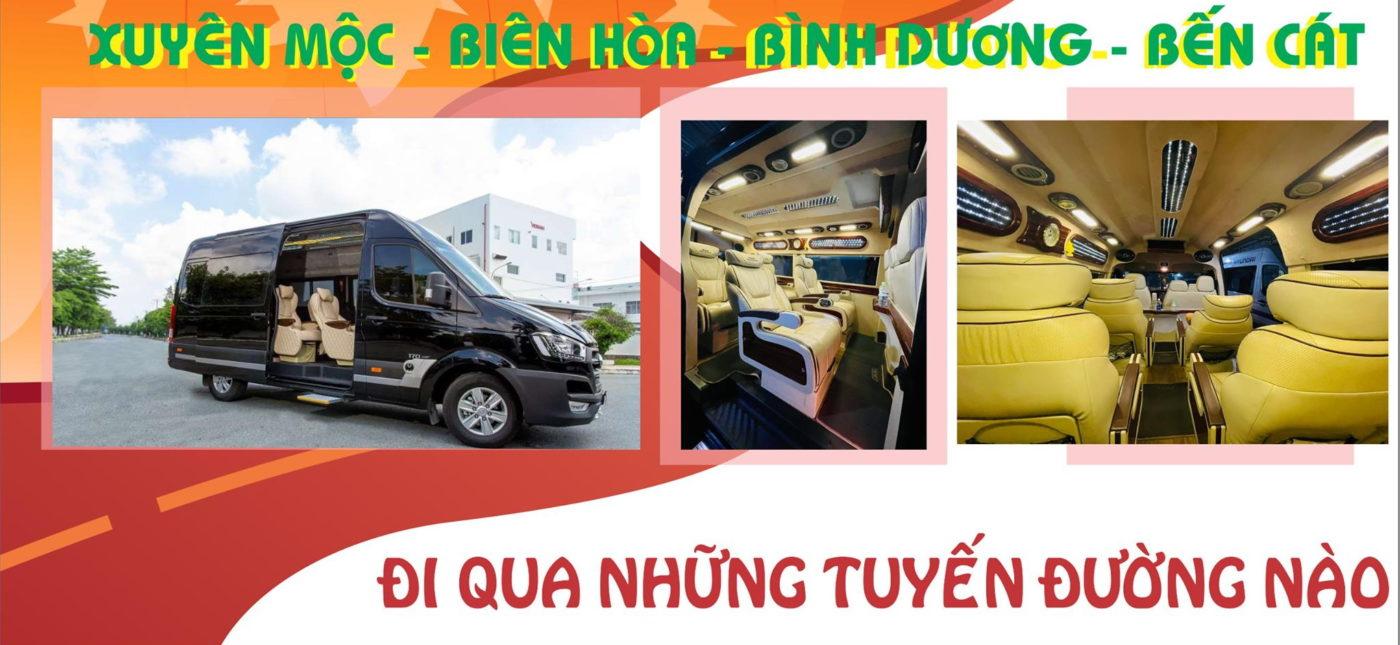 Xe limousine VIP 9 chỗ tuyến Bến Cát (Bình Dương) đi Xuyên Mộc và ngược lại